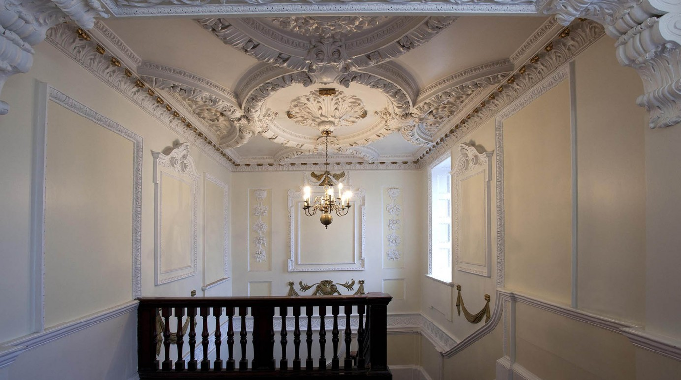 Beautiful plasterwork ceiling in Princes House