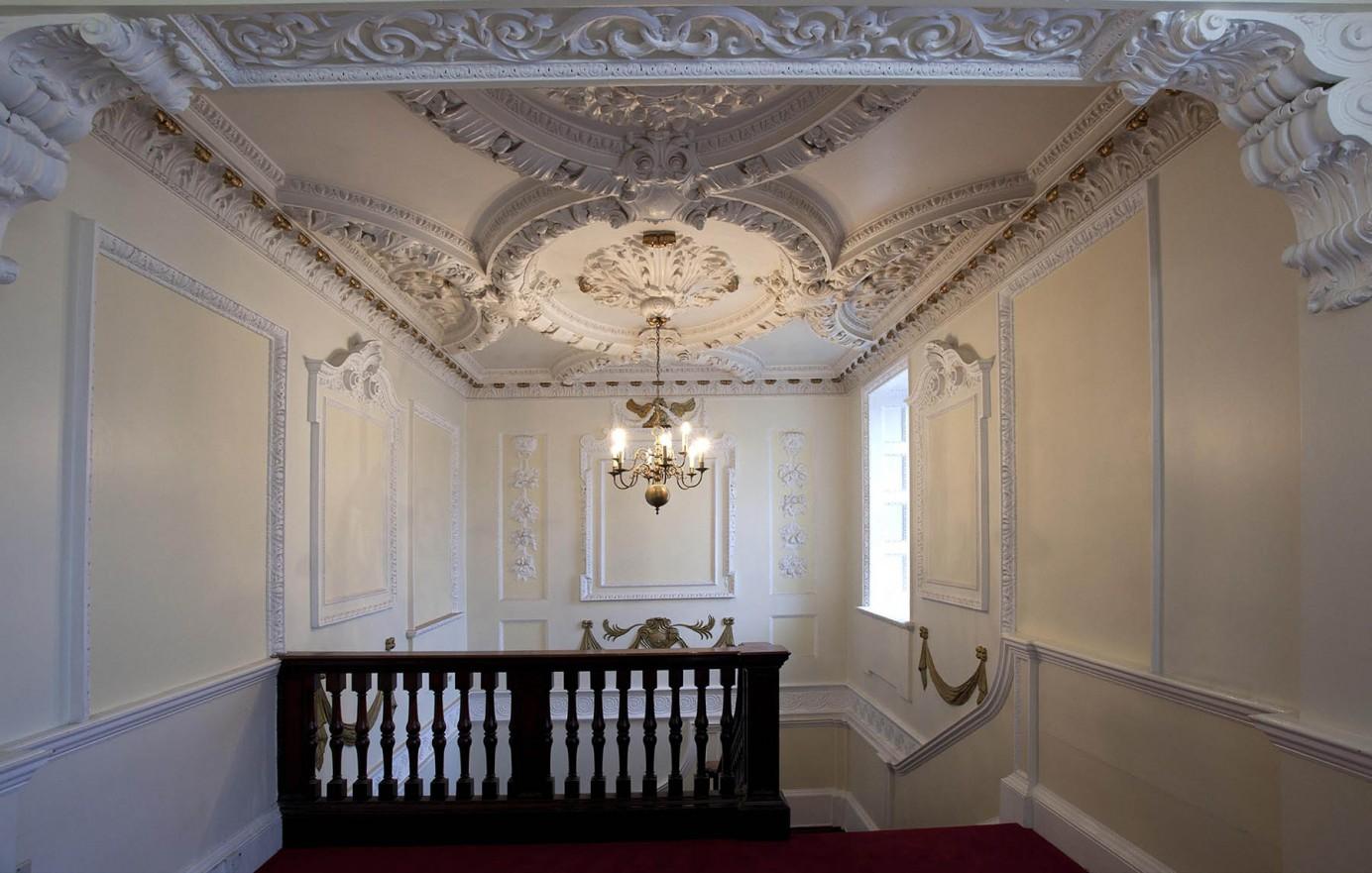 Beautiful plasterwork ceiling in Princes House